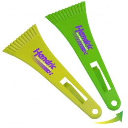 Cool Color Change Ice Scraper With Visor Clip-9""
