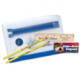 Zippered School Combo Packet with Crayons