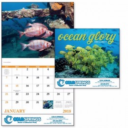 Ocean Glory Themed Wall Calendar