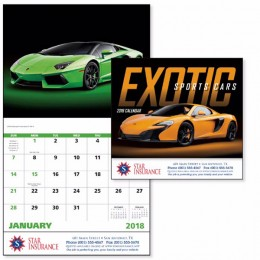Exotic Sports Cars Wall Calendar