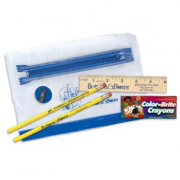 Zippered School Supply Packet with Crayons