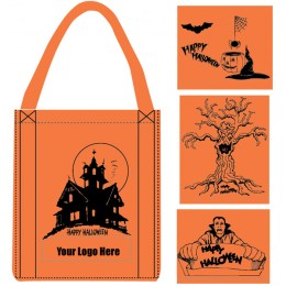 Large Halloween Art Non-Woven Tote Bag