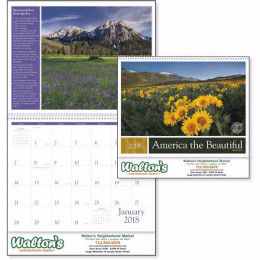 America the Beautiful Premium Appointment Calendar with Recipes