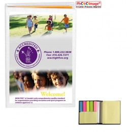 Compact Sticky Note/Flag Book - Full Color