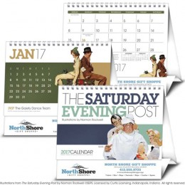 The Saturday Evening Post Large Desk Tent Calendar