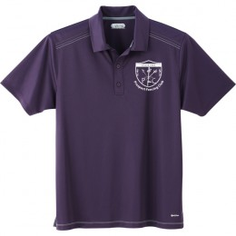 Dark Plum Promotional Polyester Polo Custom Logo