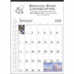 Wall Calendar - Decorator Memo - White