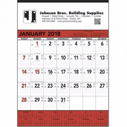Wall Calendar - Red & Black