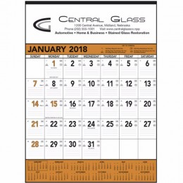 Wall Calendar - Orange & Black