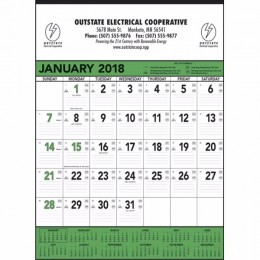 Wall Calendar - Green & Black