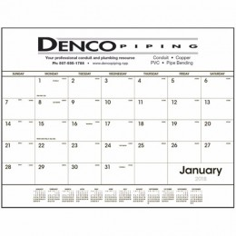 Black & White Desk Pad Calendar