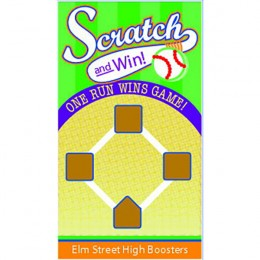 Baseball Diamond Scratch-N-Win Card - Small