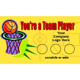 Basketball Scratch-N-Win Card - Small
