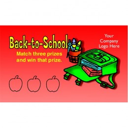 Back-to-School Scratch-N-Win Card - Small