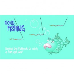 Gone Fishing Scratch-N-Win Card - Small