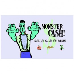 Monster Cash Scratch-N-Win Card - Small
