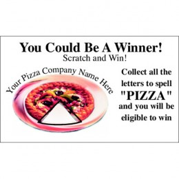 One Slice Pizza Scratch-N-Win Card - Small