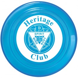 Opaque & Translucent Custom Flying Disk with Logo - Translucent Blue
