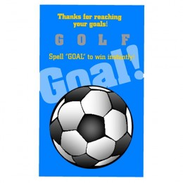 Soccer Goal Scratch-N-Win Card - Medium