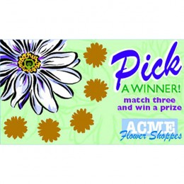 Flower Scratch-N-Win Card - Medium