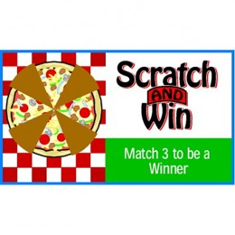 Four Slice Pizza Scratch-N-Win Card - Medium