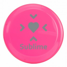 Miniature 5 inch Promotional Flying Disc with Imprint - Neon Pink