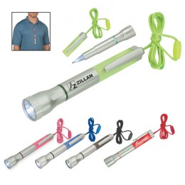 Flashlight with Light-Up Pen