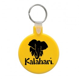 Soft Squeezable Key Tag - Round Imprinted