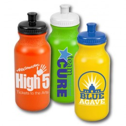 Cheap Colored Custom Plastic Water Bottle - 20 oz