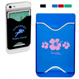 Hard Plastic Cell Phone Wallet with Logo