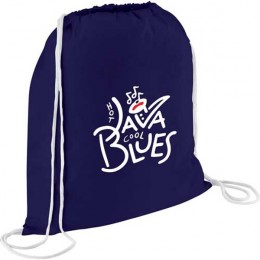 Cotton Condor Drawstring Backpack - Navy blue