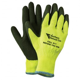 High Visibility Latex Rubber Palm Gloves