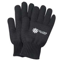 Black Knit Recycled Gloves