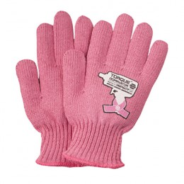 Pink Knit Recycled Gloves