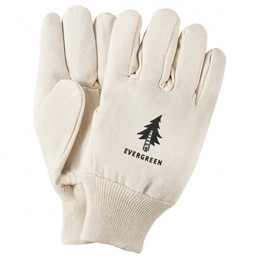 Canvas Gloves with Seamless Back