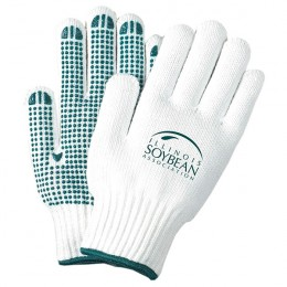 Large White Knit Eco-friendly Freezer Gloves with Grips