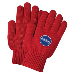 Red Knit Freezer Gloves