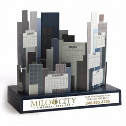Cityscape Calendar with Full Color Imprint