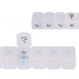 7-Day Slide Apart Pill Case Imprinted