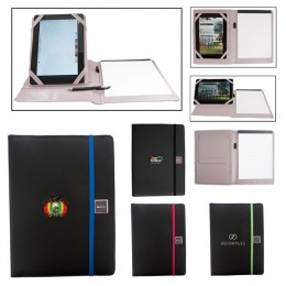 Portfolio with Adjustable Tablet Stand and Imprint