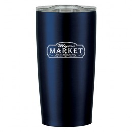 Promotional Vacuum Insulated Stainless Steel Mug with Logo - 20 oz Himalayan Navy