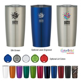 Promotional Vacuum Insulated Stainless Steel Mug with Logo - 20 oz Himalayan Silver