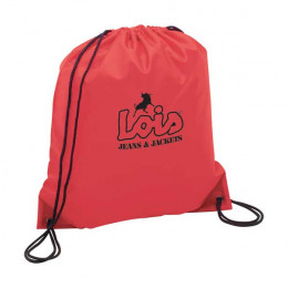 The Oriole Nylon Drawstring Backpack Promotional Custom Imprinted