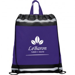 Eagle Promo Drawstring Backpack - Purple