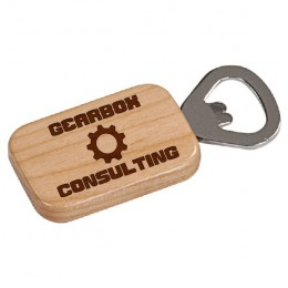 Promotional Engraved Maple Rectangle Bottle Opener
