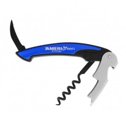 Engraved Blue Corkscrew & Opener