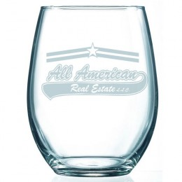 Engraved Stemless 21 Oz Wine Glass