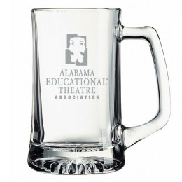 Etched Glass Beer Mug - 25 oz