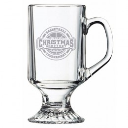 Etched Footed Sports Mug - 10 oz