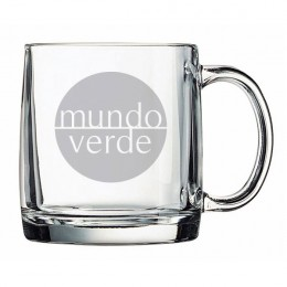 Etched Nordic Glass Mug - 13 oz